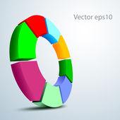 3D vector logo — Stock Vector