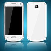 Blanco smartphone — Vector de stock
