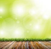 Tło zielony bokeh — Zdjęcie stockowe