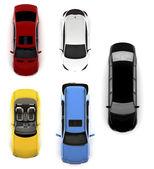 Zbiór kolorowe samochody — Zdjęcie stockowe
