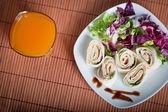 Fresh healthy vegetarian tortillas — Zdjęcie stockowe