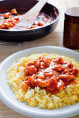 Chinese rice with chcicken — Stock Photo