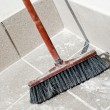 Broom ready for a sweep after make-over — Stock Photo