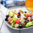 Diet and healthy mediterranean salad — Stock Photo
