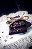 Dark and delicate homemade chocolate — Stock Photo