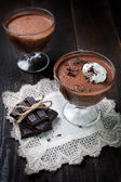 Dark and delicate chocolate mousse — Stock Photo
