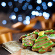 Decorative christmas cookies — Stockfoto