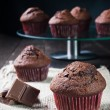 Sweet chocolate muffin — Stock Photo