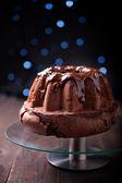 Delicious chocolate pound cake — Stock Photo