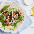 Stock Photo: Healthy and tasty tortilla wrap sandwiches