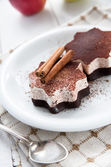 Delicious cinnamon star shaped ice creams — Stock Photo