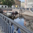 Morning on the  Griboedov canal — Stock Photo