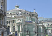 Fragment of a facade of the Maryinsky Theater. St. Petersburg. — Stock Photo