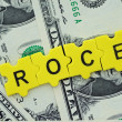 Stock Photo: ROCE in letter
