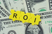 ROI in letter — Stock Photo