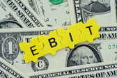 EBIT in letter — Stock Photo