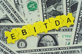 EBITDA in letter — Stock Photo