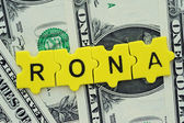 RONA in letter — Stock Photo