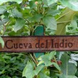 Signboard Cueva Del Indio - Stock Photo