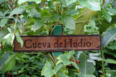 Signboard Cueva Del Indio — Stock Photo