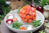 Bola rosa naranja — Foto de Stock