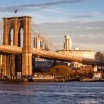 在纽约市的布鲁克林大桥 — 图库照片