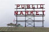 Pike local mercado, seattle, washington — Fotografia Stock