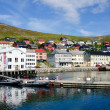 City and harbor, Honningsvag - Honningsvaag, Nordkapp municipality, Norway — Stock Photo