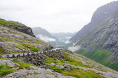 Mountain road to Nordkapp,Northcape — Stock Photo