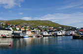 City and harbor, Honningsvag, Nordkapp municipality, Norway — Stock Photo