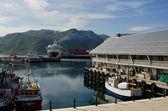 Honningsvag harbor, Nordkapp municipality, Norway — Stock Photo