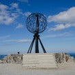 Symbolic globe at the North Cape/ Nordkapp — Photo