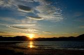 Sunset on summer sky, Finland — Stock Photo