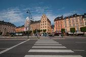 Old Town and the area Kornhamnstorg, Stockholm, Sweden — Stock Photo
