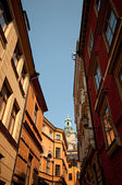 Narrow street in city center, Stockholm, Sweden — Stock Photo