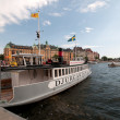 Excursion boat at the pier, Stockholm, Sweden — Stok fotoğraf