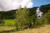 Tvinde 瀑布挪威 — 图库照片
