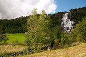 Wodospad tvinde, norwegia — Zdjęcie stockowe