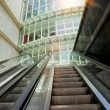 Outdoor escalator under the sunlight — Stock Photo