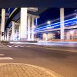 Viaduct at night - Stock Photo
