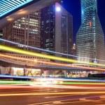 Night traffic in shanghai — Stock Photo