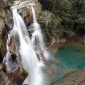 Double waterfall — Stock Photo