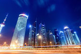 Night view of shanghai financial center — Stock Photo