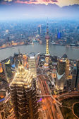 Beautiful shanghai in the evening — Stock Photo