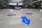 Salle d'attente moderne train station à shanghai — Photo