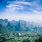 Guilin hills,beautiful karst mountain landscape — Stock Photo