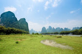 Karst landform scenery in guilin — Stock Photo