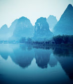 Beautiful yangshuo hills — Stock Photo