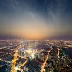 Shanghai metropolis at night — Stock Photo
