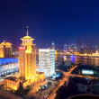 Night scene of shanghai from the oriental pearl tv tower — Stock Photo